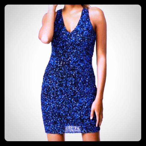 c64c8b0553a Parker blue 👗 Sequins Dress 💙